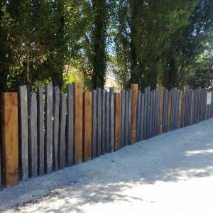Paysagiste dordogne - Clôture bois